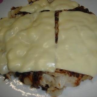 鶏肉たまねぎキャベツのあんかけ味付けチーズ焼き