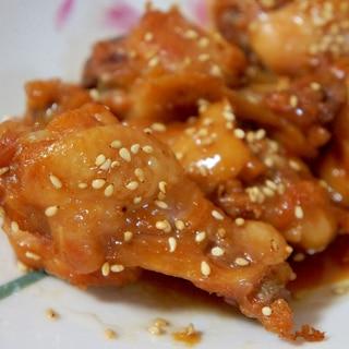 鶏手羽元の照り煮 圧力鍋で簡単に。