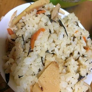 筍とひじきの混ぜご飯