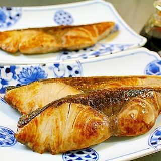 ぶりの塩焼き*フライパン焼き
