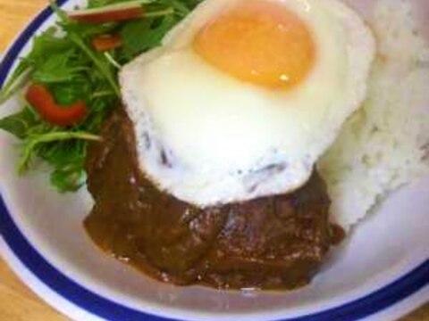 ハヤシルーで簡単ロコモコ丼