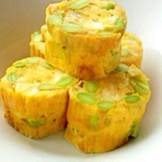 枝豆エシャロットの卵焼き