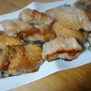 鮭の焼肉のたれ焼き