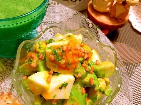簡単美味しいアボカド卵サラダ