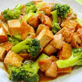 厚揚げとブロッコリー鶏肉のとろみ煮