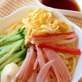 焼きそば麺で☆自家製タレの冷やし中華