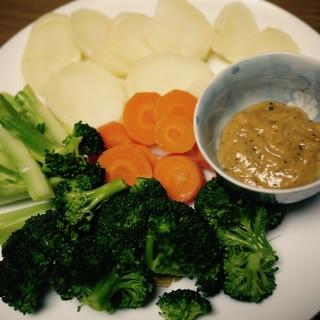バーニャカウダー風♪お味噌の温野菜つけダレ