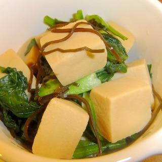 だしいらず!塩コンブで高野豆腐の含め煮