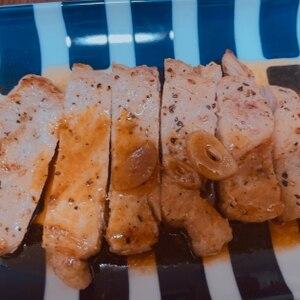 やっぱり美味しいトンテキ ニンニクソース!
