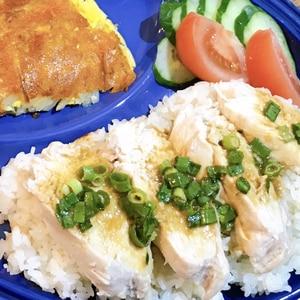鶏むねがやわらかい!炊飯器deカオマンガイ