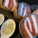 モッツァレラチーズと境港サーモンのブリック巻き