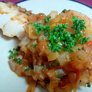 ダイエット中においしい☆白身魚のトマトソテー