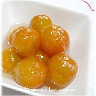 甘くてほろ苦い金柑の甘露煮