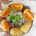 リーフレタス 、キウイ、オレンジのサラダ~♪