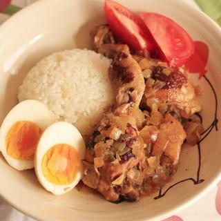 フィリンピンの家庭料理 チキンアドボ