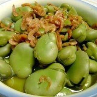 あと一品☆そら豆と干し桜えびの超簡単煮