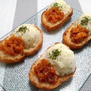 お洒落で美味なフランスパン●塩うにとマッシュポテト