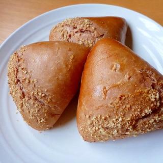 こねないパン・たっぷり栗クリーム入り三角マロンパン