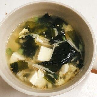 きのこと豆腐の中華スープ