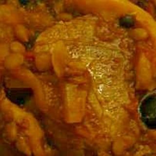 豚ヒレとレンズ豆のトマト煮込み