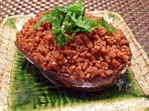 美味しい~♪米なすの肉みそ田楽☆