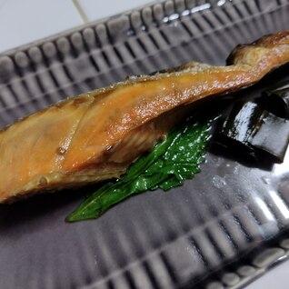秋鮭の焼浸し