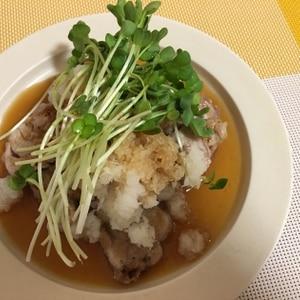 豚ヒレ肉のおろし醤油ステーキ♪