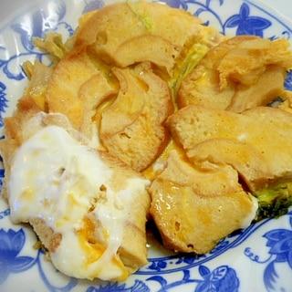 白菜と車麩の卵とじ