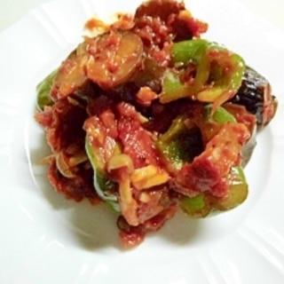ナスのトマト煮込み