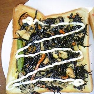 異色コラボ☆ひじき煮のっけトースト