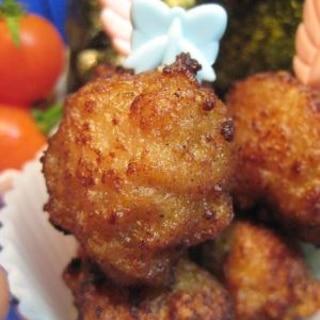 生姜をきかせて★鶏の唐揚げみたい!鶏団子の唐揚げ