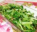 水菜と塩昆布の和え物