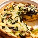 【ガサツ料理】シンプルなほうれん草のパンキッシュ