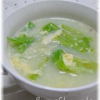 レタスとかき玉の簡単中華スープ
