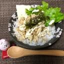 鶏ひき肉とスライスチーズのオートミール丼 作り置き