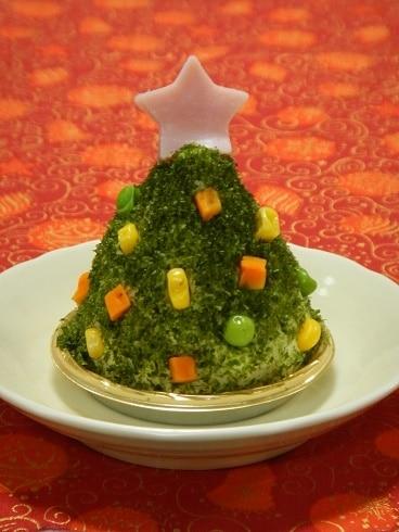 ポテトサラダでケーキ風☆クリスマスツリー☆