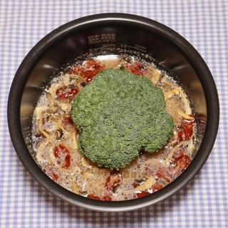 嵐相葉マナブ☆乾燥野菜で丸ごとブロッコリー釜飯