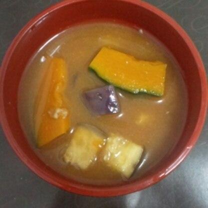 茄子とかぼちゃのお味噌汁
