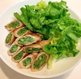 菜の花豚肉巻き