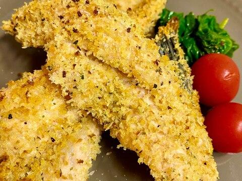 鮭カマの香草パン粉焼き