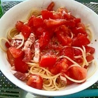 トマト好き必見!フレッシュとまとの冷製パスタ