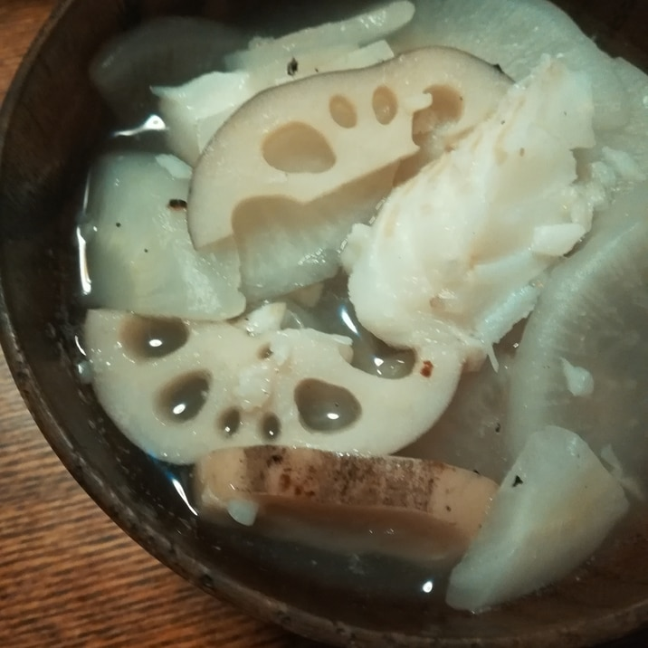 鱈の白いスープ