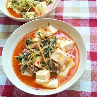 水菜の定番に!水菜na麻婆豆腐