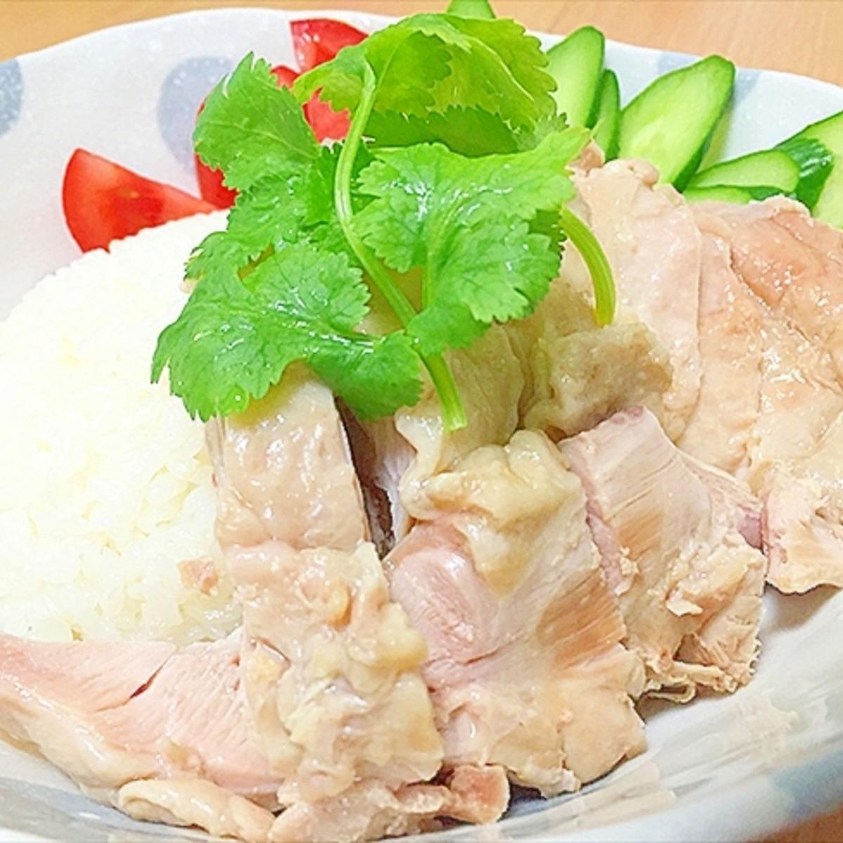レシピ カオマンガイ