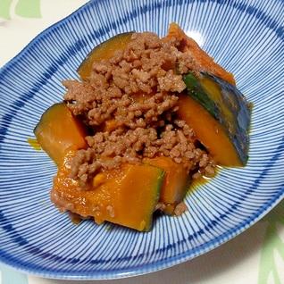 合挽き肉とかぼちゃの甘辛煮++