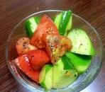 きゅうりとトマトの簡単♪中華サラダ