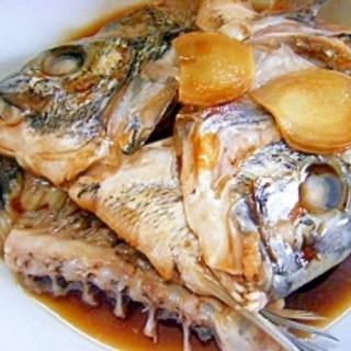 黒鯛のアラの煮付け