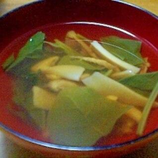 秋の味。松茸のお吸い物