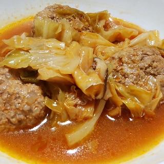 肉団子とキャベツの洋風スープ