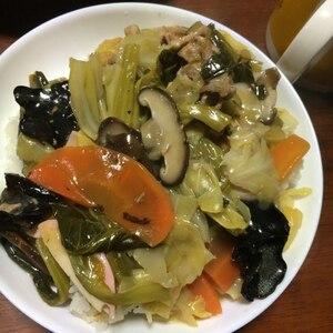 野菜ミックスで(^^)簡単とろ~り中華丼♪